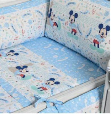 Protetor De Berço Disney Azul Minasrey- Infantil