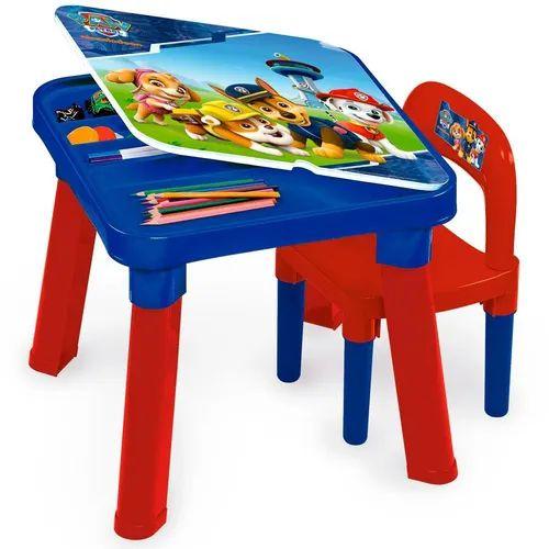 Mesa Com Cadeira Patrulha Canina Barão - Infantil