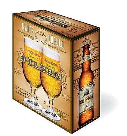Jogo C/ 02 Taças P/ Cerveja Bohemia Pilsen 380 Ml - Glob Import