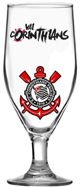 Taça Dunkel - 380 Ml - Vai Corinthians - Glob Import