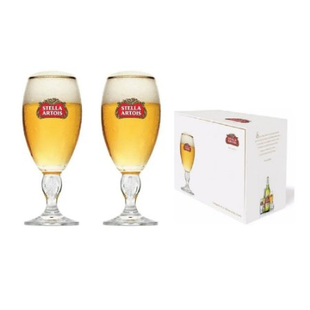 Jogo C/ 02 Taças P/ Cerveja Stella Artois 250 Ml - Glob Import