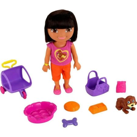 Boneca Dora, A Aventureira Com Cãozinho Mattel