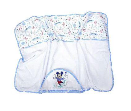 Toalha Capuz Disney Bordada Azul Minasrey- Infantil