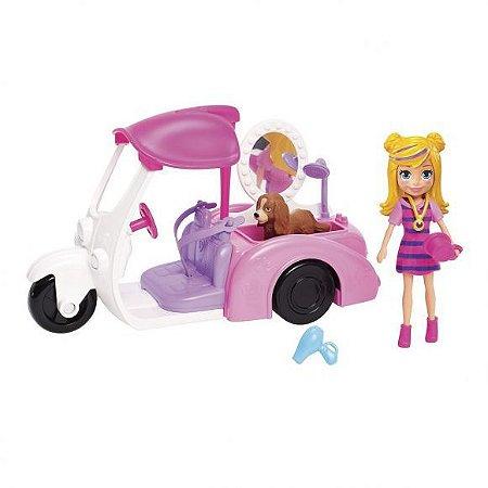 Polly Pocket Veículo Banho E Cachorrinho Mattel
