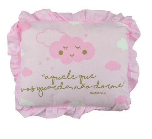 Travesseiro Frase Alvinha Rosa Minasrey- Infantil