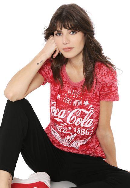 Camiseta Coca-Cola Jeans Devorê Feminina