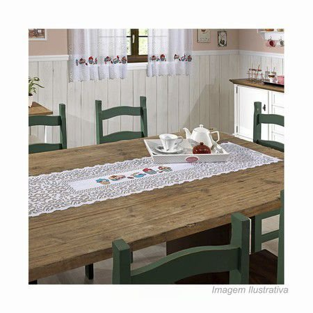 Trilho de Mesa Cupcake 40cm X 150cm - Interlar Branco