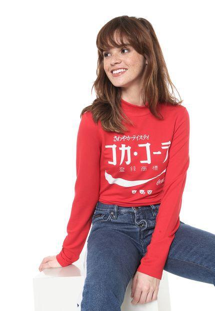 Camiseta Coca-Cola Jeans Aroma Estampada Feminina