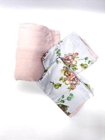 Jogo Portallar Queen Flor De Lotus Rosa Anti 20690