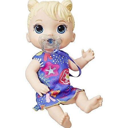Boneca Baby Alive Bebê Primeiros Sons Loira - Hasbro