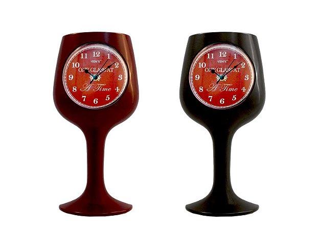 Relógio de Parede Copo de Vinho - Imporiente