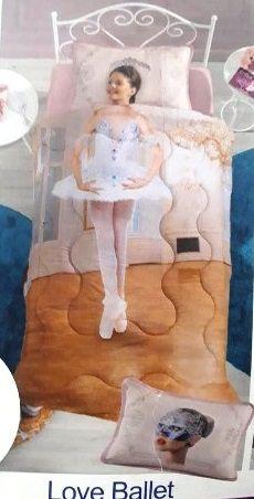Jogo De Colcha Solteiro Have Fantasy Love Ballet 2 Peças Altenburg