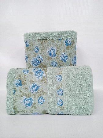 Toalha de rosto Lilly azul piscina - Camesa