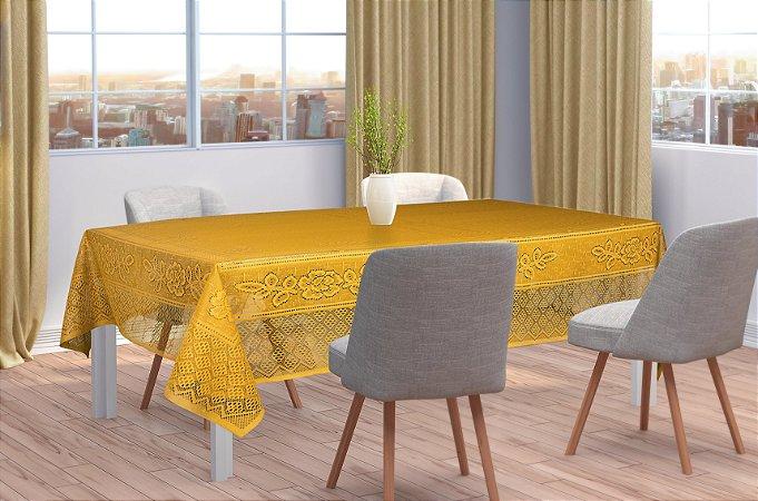 Toalha De Mesa Amarela Quadrada 150 X 150m Interlar