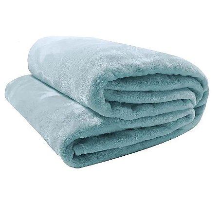 Cobertor Flannel Loft Liso azul - Camesa