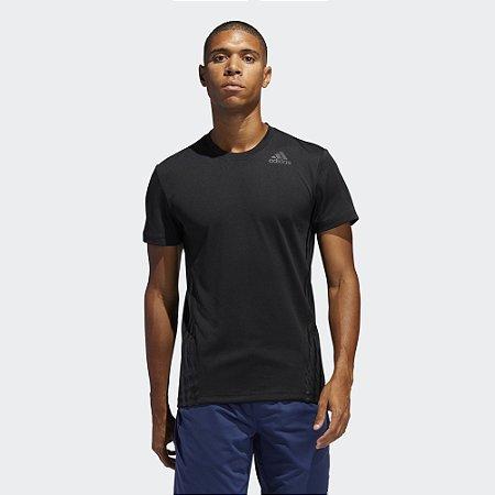 Camiseta Adidas Aeroready 3-Stripes Masculina - Preta