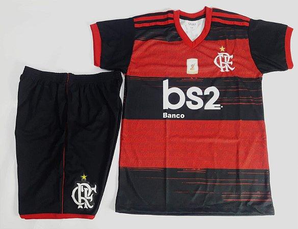 Conjunto Infantil Flamengo Preto e Vermelho - Ginga