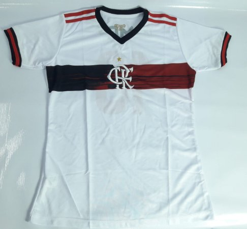 Camisa do Flamengo Baby Look Branca - Ginga