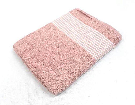 Toalha Atlantica Banho Luna Veludo Rosa 110100276