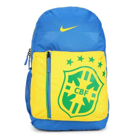 Mochila Brasil Infantil Nike CBF Stadium - Azul e amarelo