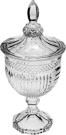 Potiche De Cristal Com Pé Santorini 11,5cmx24,5cm Lyor - Coliseu
