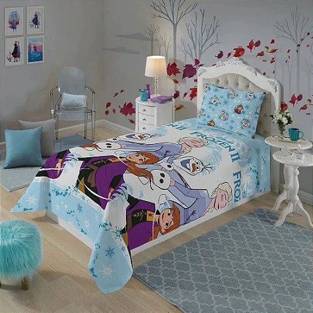 Jogo de Cama Infantil Microfibra Lepper - Frozen