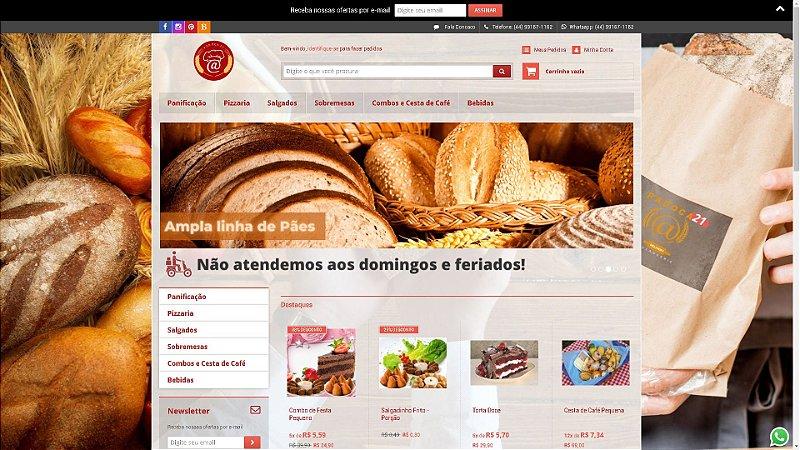 Loja Virtual modelo Padoca21