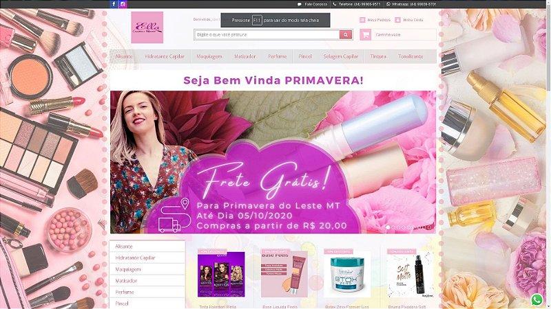 Loja Virtual modelo Ella Cosméticos