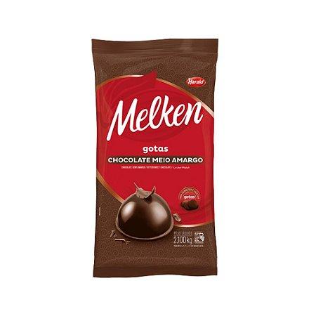 Chocolate Gotas Melken Meio Amargo Harald 2,1 KG