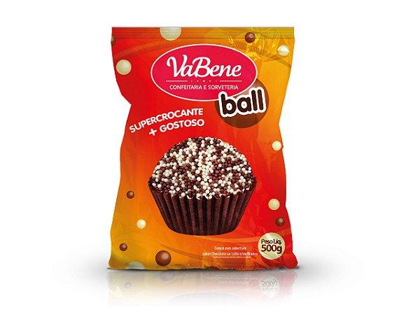 Choco Power Ball Micro Branco/Leite Vabene - 500 G