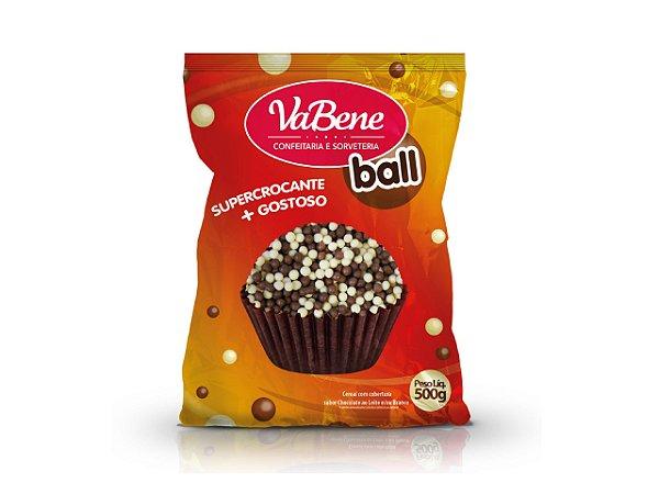 CHOCO POWER BALL (MINI) BRANCO/LEITE VABENE - 500 G