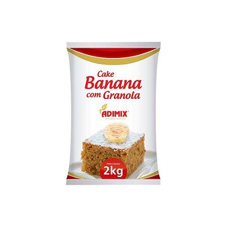 Mistura Cake Banana Com Granola Adimix 2 KG