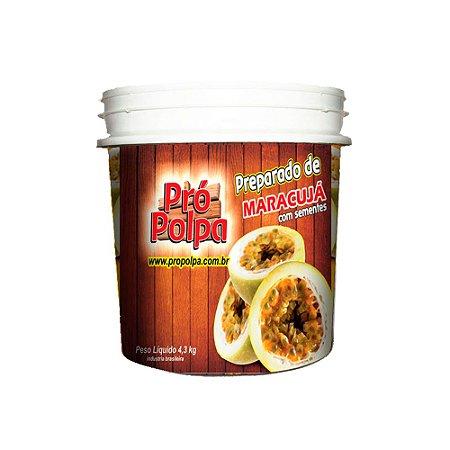 Polpa Pró Polpa Maracujá Com Semente 4,3 KG