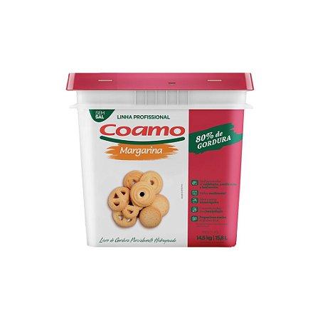 Margarina Coamo 80% Sem Sal 14,5 kg