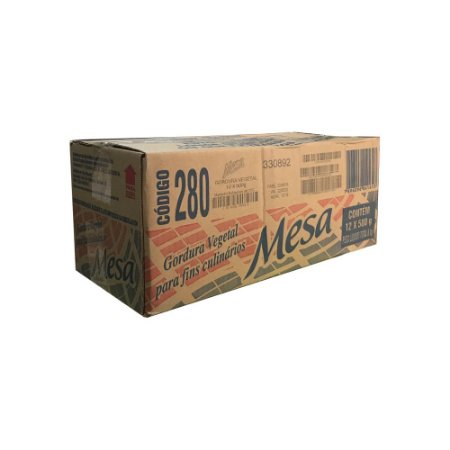 Gordura Vegetal Hidrogenada Mesa CX 12x500Gr