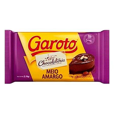 Chocolate Garoto Meio Amargo 2,1 KG