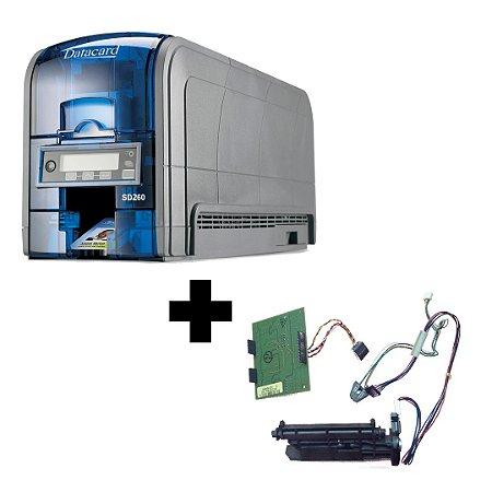Impressora Datacard SD260 Com Gravador de Tarja Magnética
