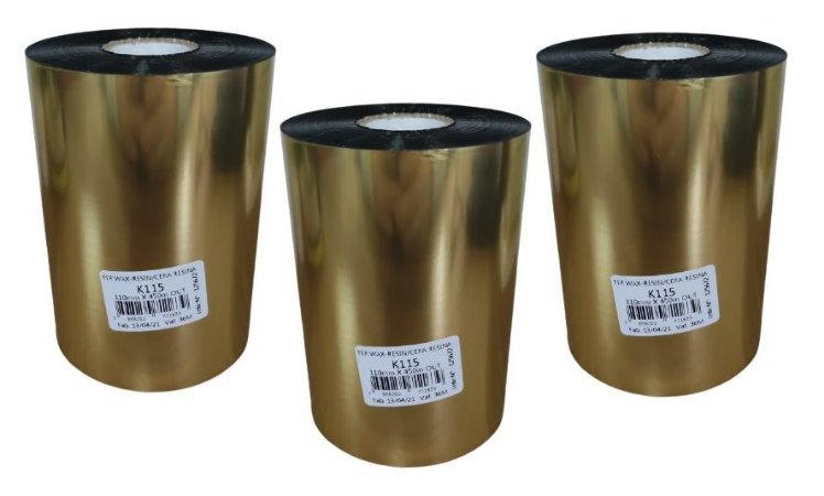 Ribbon Mastercorp K115 Cera/Resina 110x450M - 3 Unidades