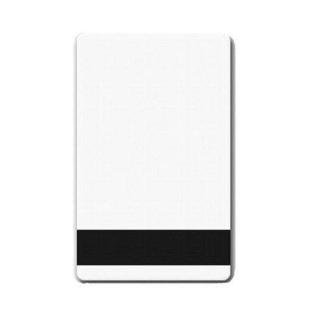 Cartão de PVC Branco c/ Tarja  Infrared Vertical - 100 unidades
