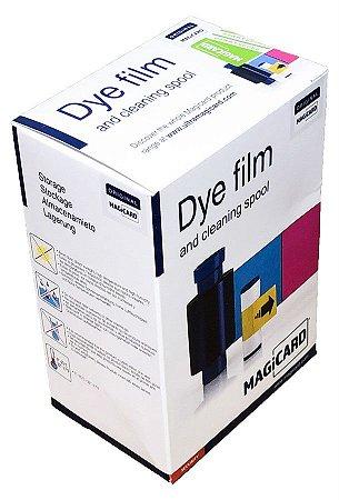 Fita de impressão colorida c/ verso preto YMCKOK, 250 impressões p/ Magicard Enduro e Rio Pro (versões Duo).