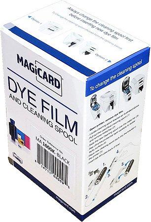 Fita de impressão preta K, 1.000 impressões para Magicard Pronto, Enduro e Rio Pro