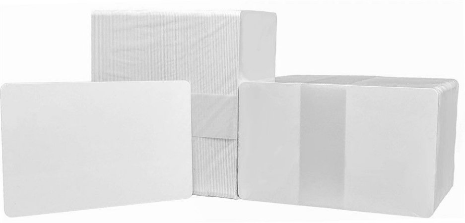 Cartão em PVC Branco - 300 unidades (8,6cm x 5,5cm) - Espessura: 0,76mm