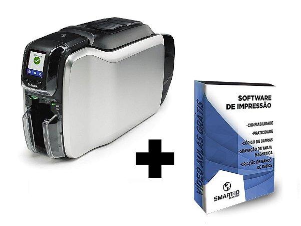 Impressora de Crachás e Cartões Zebra ZC300 Duplex