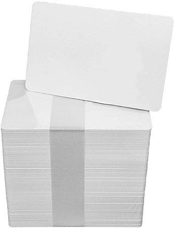Cartão Em Pvc Branco Para Crachás 0,76mm 1000 Unidades