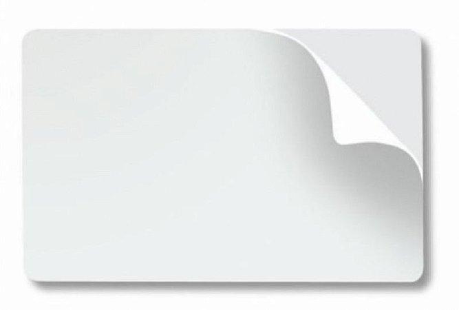 Cartão Pvc ADESIVADO 0,46mm - 100 Unidades