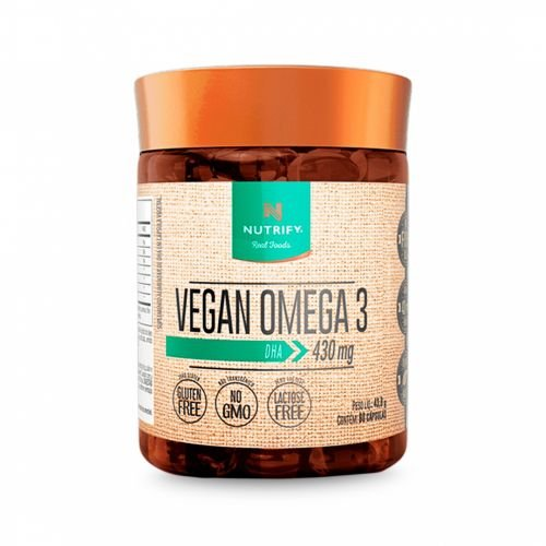 Vegan Ômega 3 DHA Nutrify - 60 cápsulas
