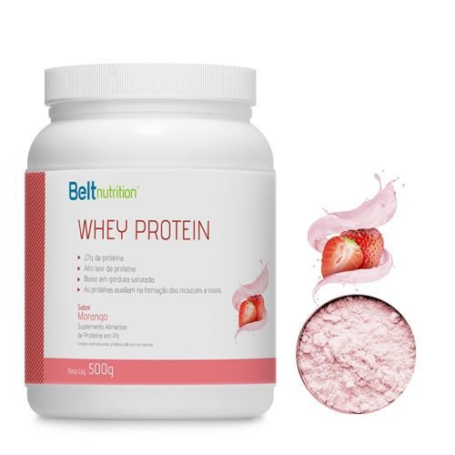 Whey Protein Belt Nutrition - Morango - 500g