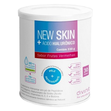 New Skin + Ácido Hialurônico Divinitè - Sabor Frutas Vermelhas - 330g