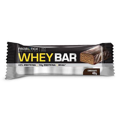 Whey Bar Probiótica - Chocolate - Unidade 40g