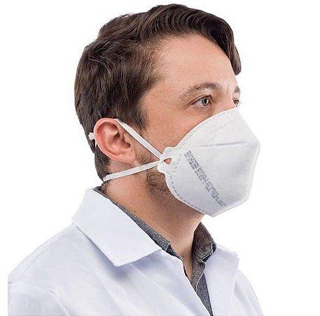 Máscara PFF2 S de Proteção Facial Sem Válvula - Branca